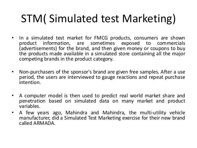 simulated test marketing