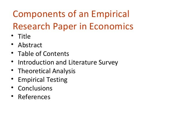empirical research papers View empirical research research papers on academiaedu for free.