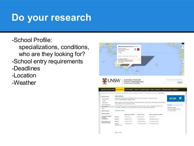 APPLYING FOR AN MBA IN AUSTRALIA Slide 3
