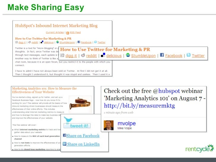 Make Sharing Easy