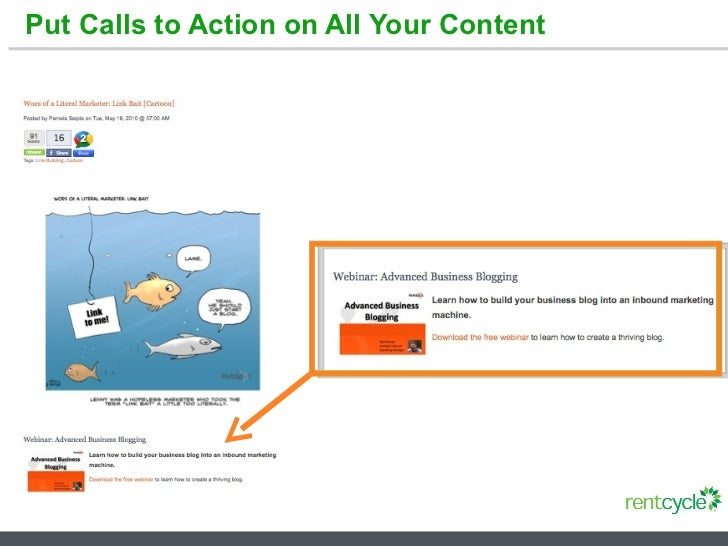 Put Calls to Action on All Your Content