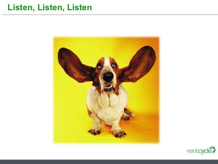 Listen, Listen, Listen