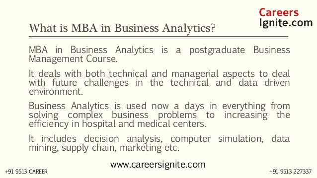 MBA in Business Analytics Courses, Colleges, Eligibility Slide 2