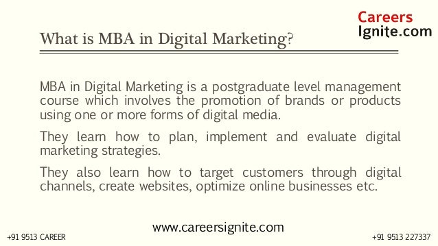 MBA in Digital Marketing Courses, Colleges, Eligibility Slide 2