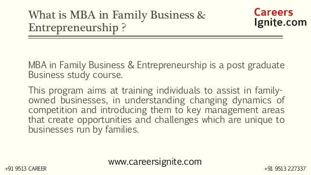 MBA in Family Business & Entrepreneurship Courses, Colleges, Eligibility Slide 2
