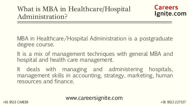 MBA in Healthcare / Hospital Administration Courses, Colleges, Eligibility Slide 2