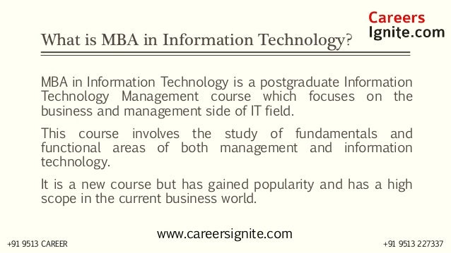 MBA in Information Technology (IT) Courses, Colleges, Eligibility Slide 2
