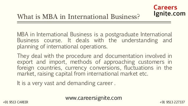 MBA in International Business (IB) Courses, Colleges, Eligibility Slide 2