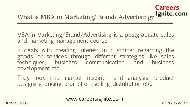 MBA in Marketing / Brand / Advertising Courses, Colleges, Eligibility Slide 2