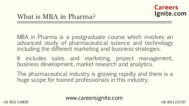 MBA in Pharma Courses, Colleges, Eligibility Slide 2