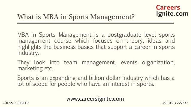 MBA in Sports Courses, Colleges, Eligibility Slide 2
