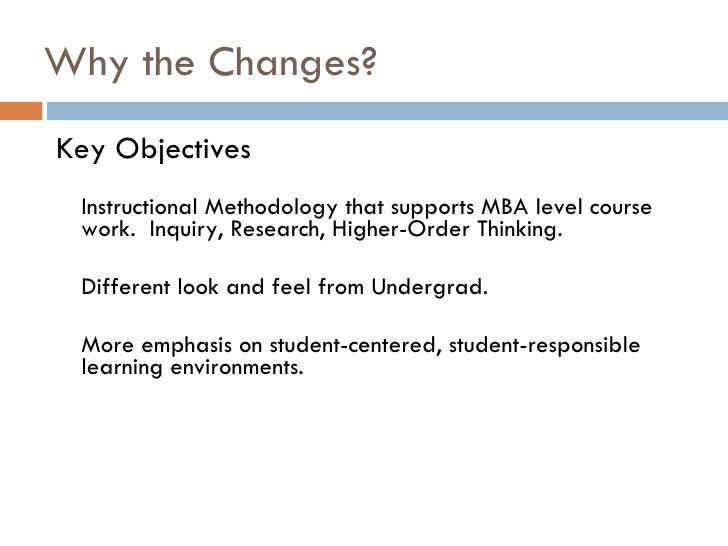 Mba Instructional Methodology