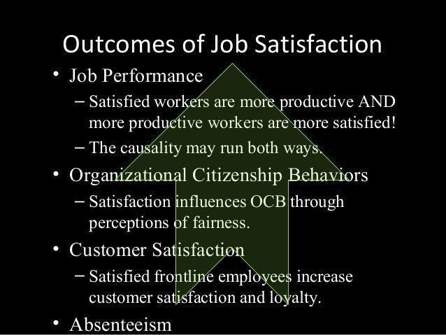 outcomes of job satisfaction pdf