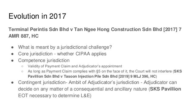 CIPAA Update June 2019 - a case of creeping complexities?