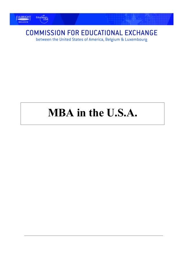 MBA in the U.S.A.
