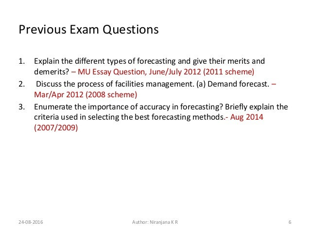 Forecasting and trends mba 580 essay