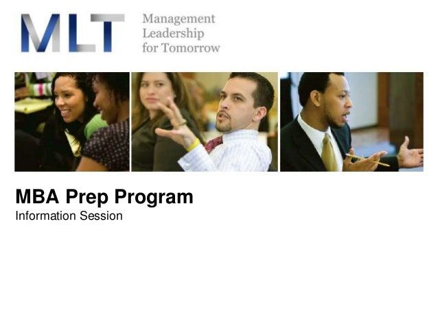 MBA Prep Program Information Session