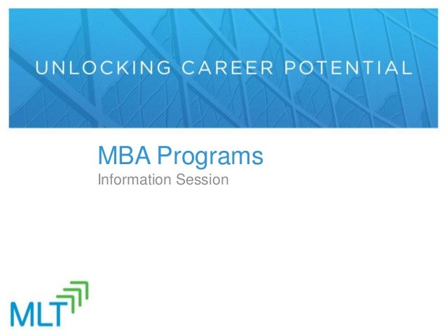 MBA Programs Information Session