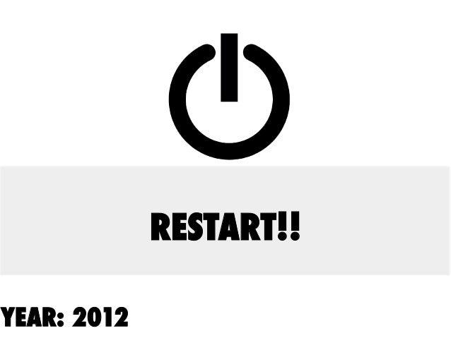 YEAR: 2012 RESTART!!