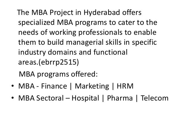 Mba project in hyderabad india Slide 2