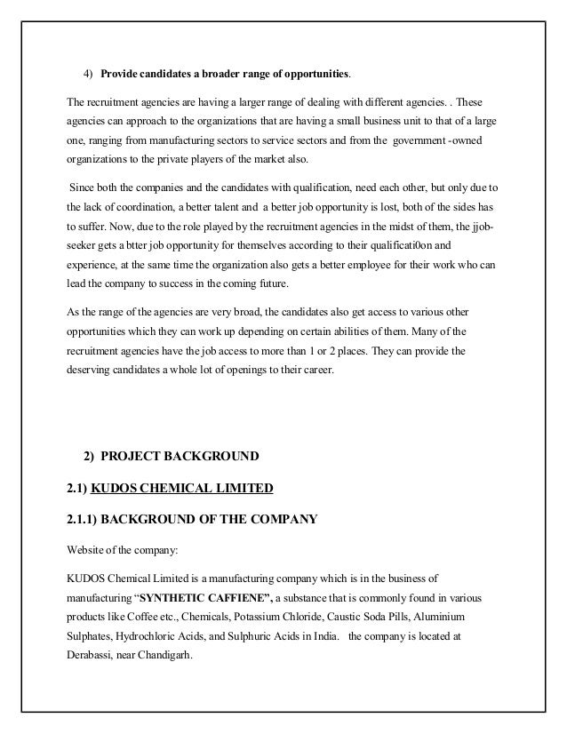 Mba project on recruitment and selection