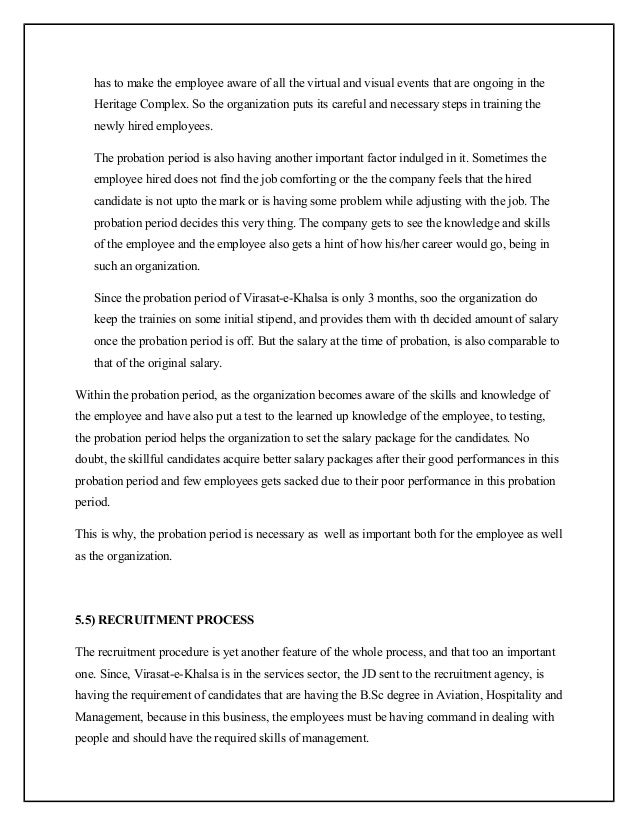 project on recruitment and selection process pdf