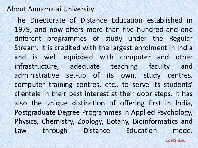 mba assignments annamalai university Enrolment number: mbhmct09111984 annamalai university m b a human resource management i year 12 human resources management self declaration i declare.