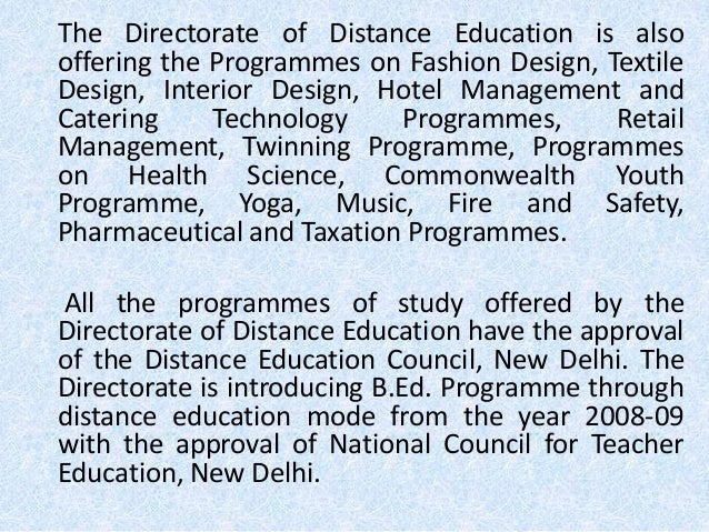4 The Directorate Of Distance Education