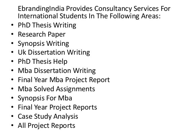 Mba project synopsis writing services bangalore india