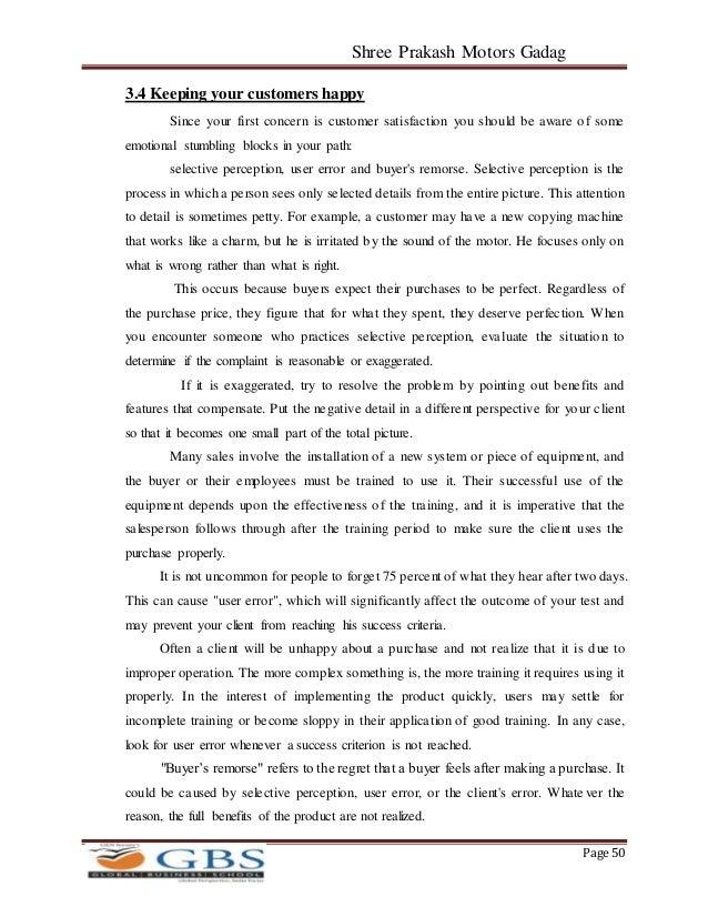 Project Report on Customer satisfaction regarding Mahindra Bolero