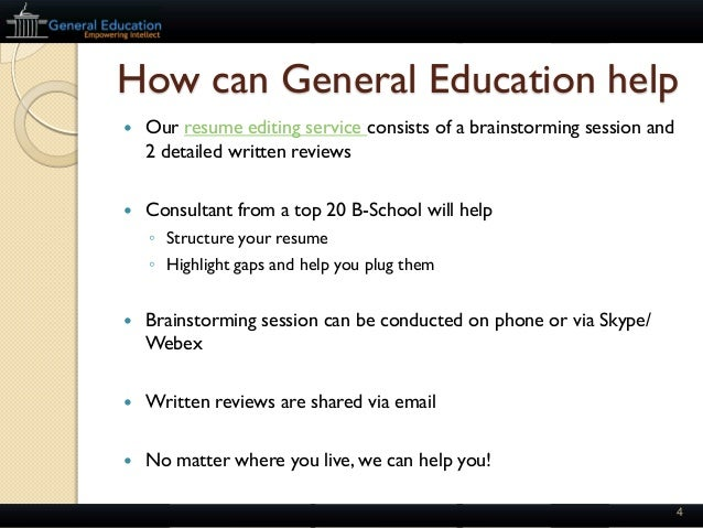 mba essay review service