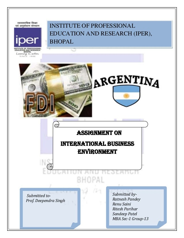 INSTITUTE OF PROFESSIONAL            EDUCATION AND RESEARCH (IPER),            BHOPAL                        ASSIGNMENT ON...