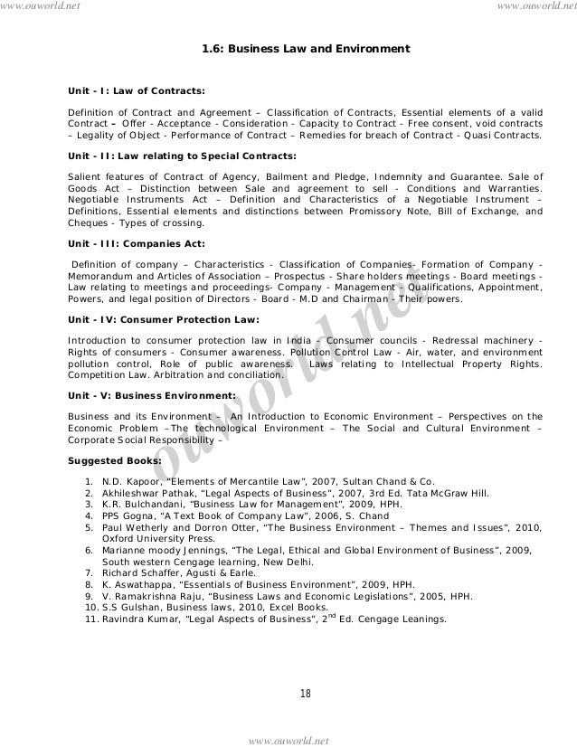 business law question papers mba