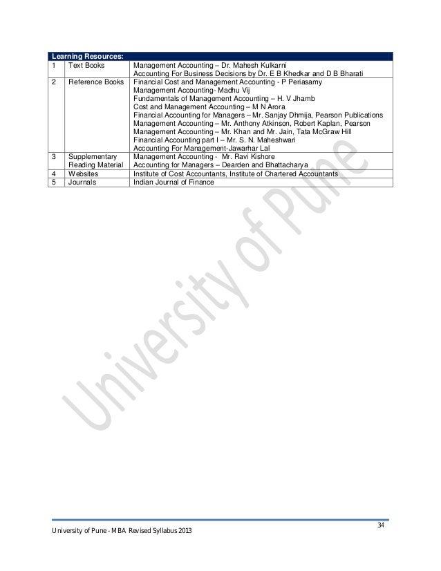 Mba syllabus 2013 cbcgs pattern