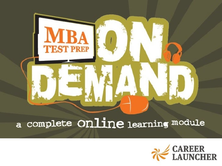 MBA Test Prep on Demand Demo Slide 1