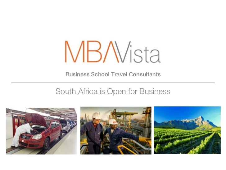 Business School Travel ConsultantsSouth Africa is Open for Business