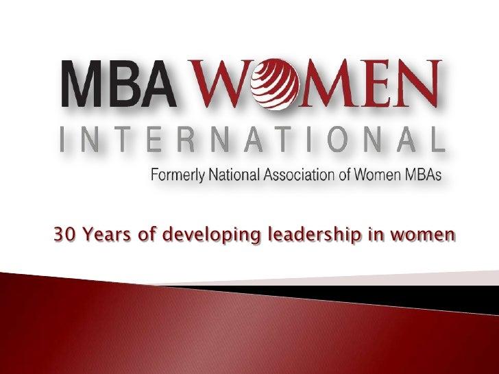 30 Years of developing leadership in women