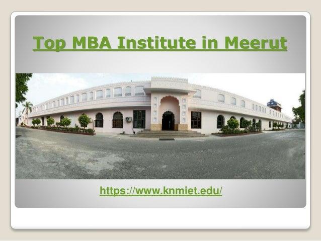 Top Mba Institute In Meerut