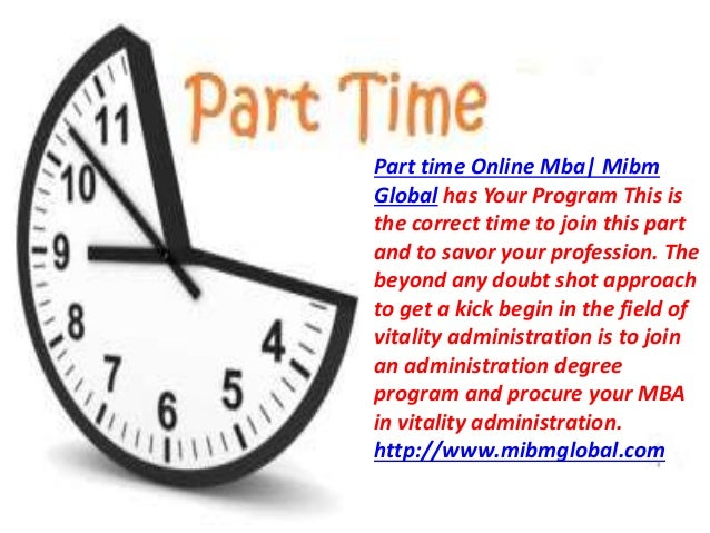 Mba with specialization in part time online mba Slide 2