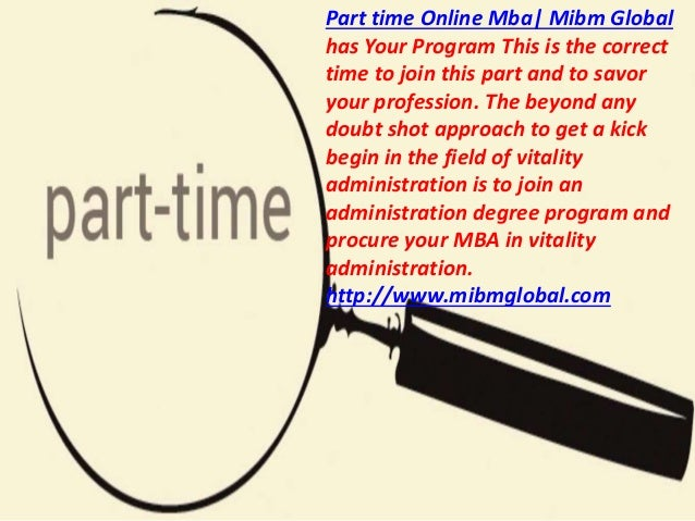 Mba with specialization in part time online mba Slide 3