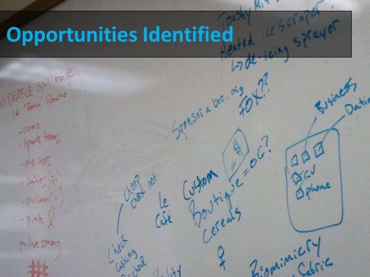 Opportunities Identified<br />