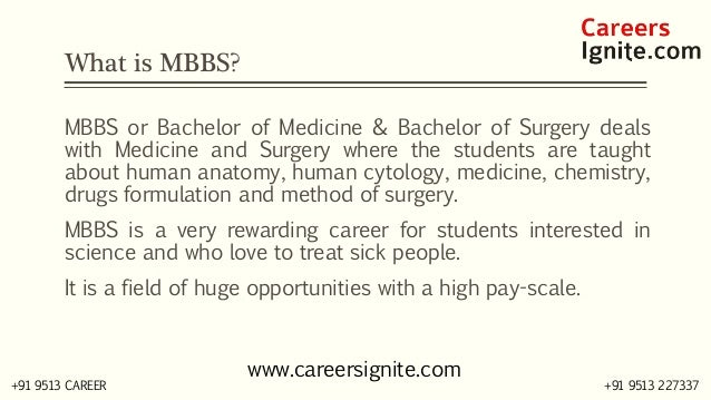 MBBS - Bachelor in Medicine & Bachelor in Surgery Courses, Colleges, Eligibility Slide 2