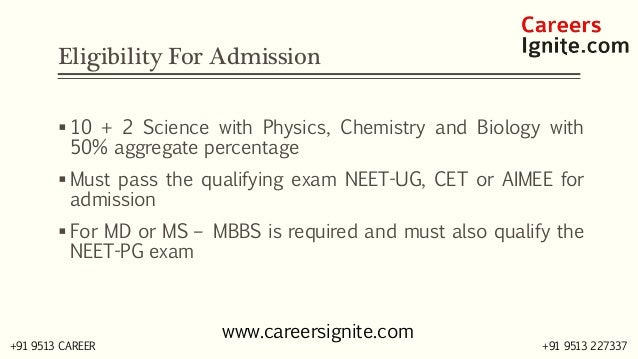 MBBS - Bachelor in Medicine & Bachelor in Surgery Courses, Colleges, Eligibility Slide 3