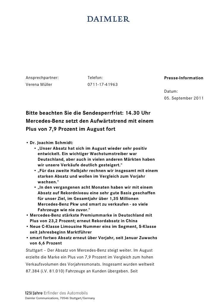 Ansprechpartner:                          Telefon:                   Presse-InformationVerena Müller                      ...
