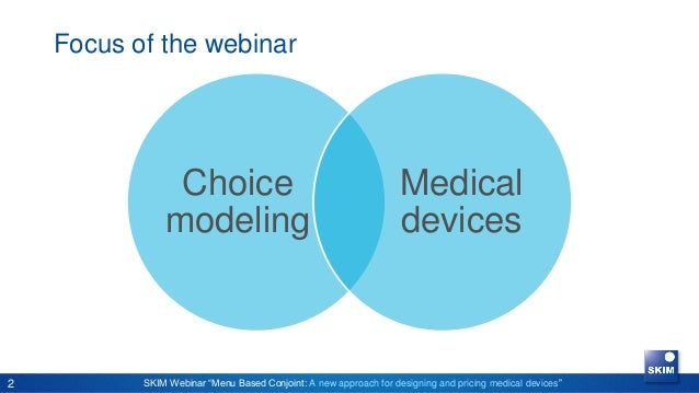 Webinar: Menu-Based Conjoint: A new approach for designing and pricing medical devices Slide 2