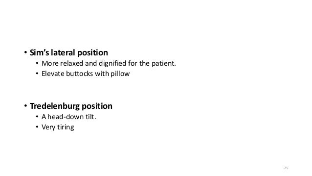 Trendelenburg Position For Cord Prolapse