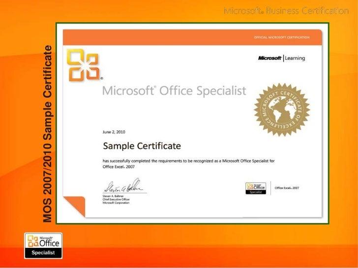 Microsoft Office Certification Courses Demirediffusion