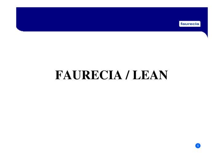 FAURECIA / LEAN                       1