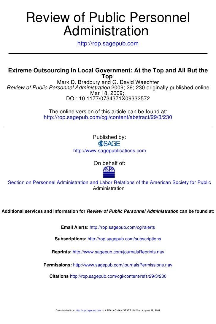 Review of Public Personnel                 Administration                                           http://rop.sagepub.com...
