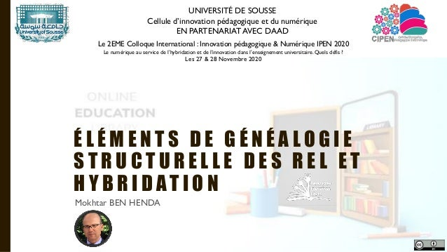 UNIVERSITÉ DE SOUSSE Cellule d'innovation pédagogique et du numérique EN PARTENARIAT AVEC DAAD Le 2EME Colloque Internatio...